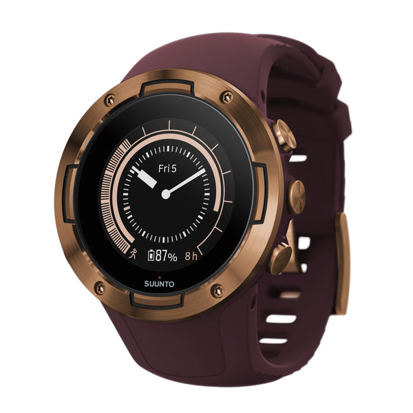Suunto 5 Burgundy Copper SUSS050301000- Compact GPS Sports Watch With Great Battery Life