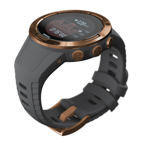 Suunto 5 Graphite Copper - Compact GPS Sports Watch With Great Battery Life (Free Smart Sensor)