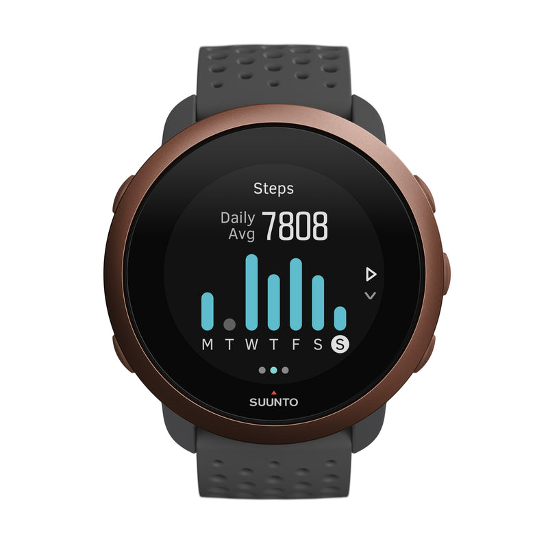 SUUNTO 3 SLATE GREY COPPER - COMPACT SPORTS WATCH FOR HEALTH AND WELLBEING