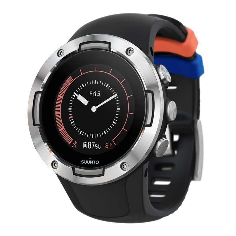 Suunto 5 Black Steel - Compact GPS Sports Watch With Great Battery Life