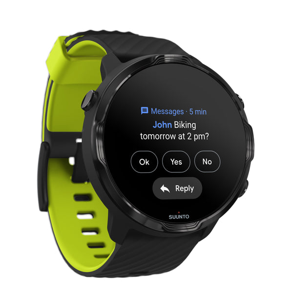 Suunto 7 Black Lime - The Smartwatch for Sporty Life (Free Gift)
