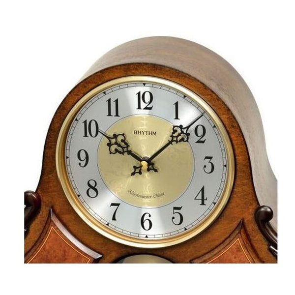 Rhythm Table Clock Wooden Sound In Place RTCRJ742BR06