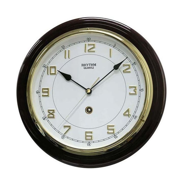 Rhythm Clock Brown color wooden case Wall Clock RTCMG931NR06