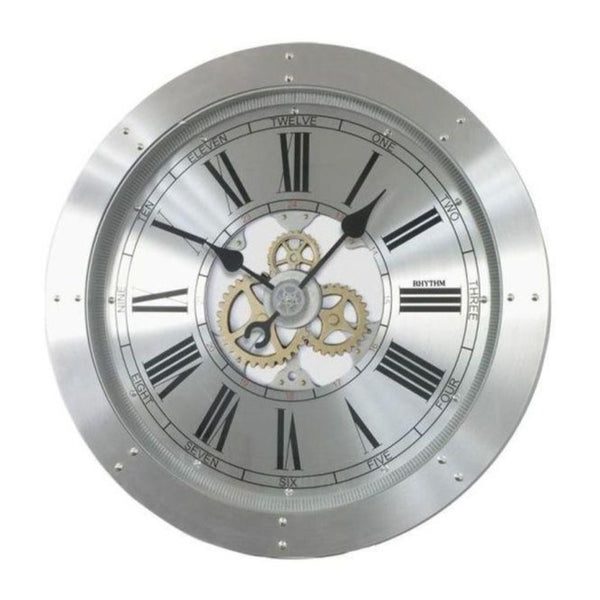 Rhythm Clock Aluminum Case Wall Clock RTCMG759NR19