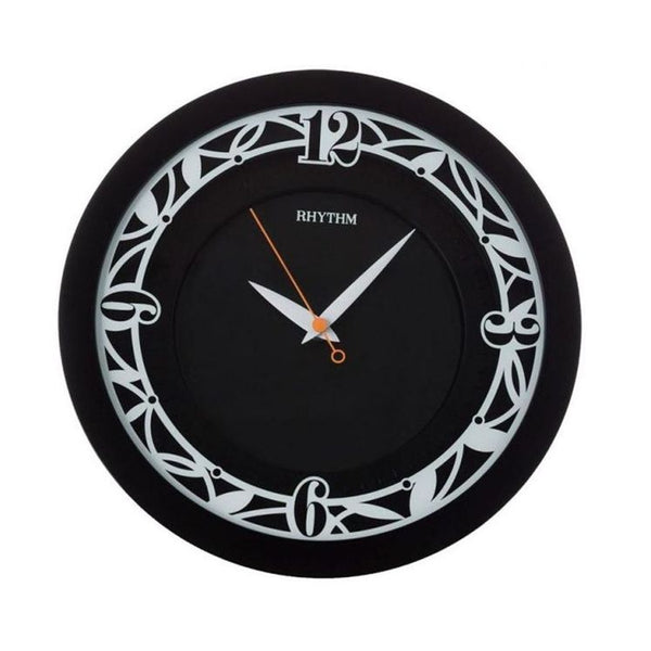Rhythm Clock Black Plastic Case Wall Clock RTCMG483NR02