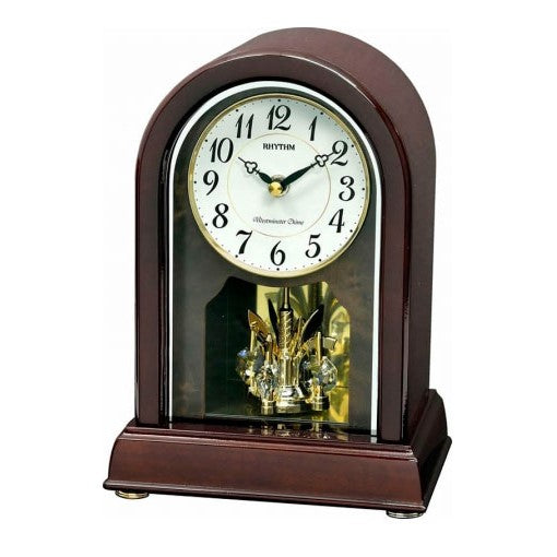 Rhythm Table Clock Wooden Piano Finish RTCRH249NR06