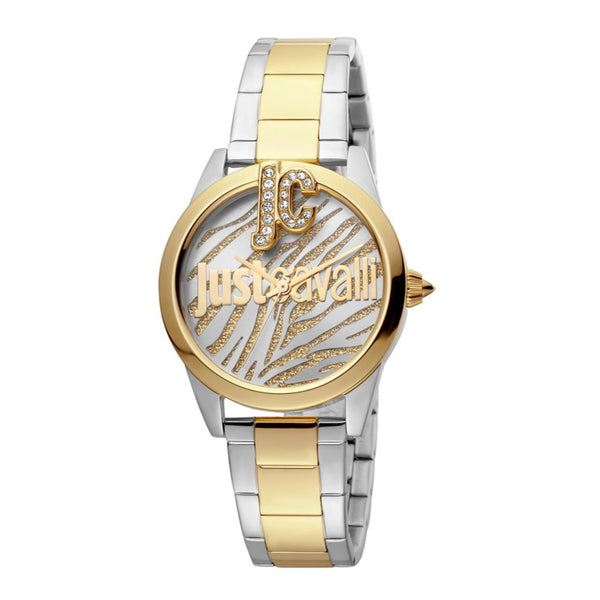 Just Cavalli Just Trama Women Watch & Bracelet Set JC1L099M0085 (Free Gift)