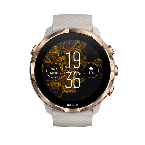 Suunto 7 Sandstone Rose Gold- Versatile GPS sports watch and smart watch in one
