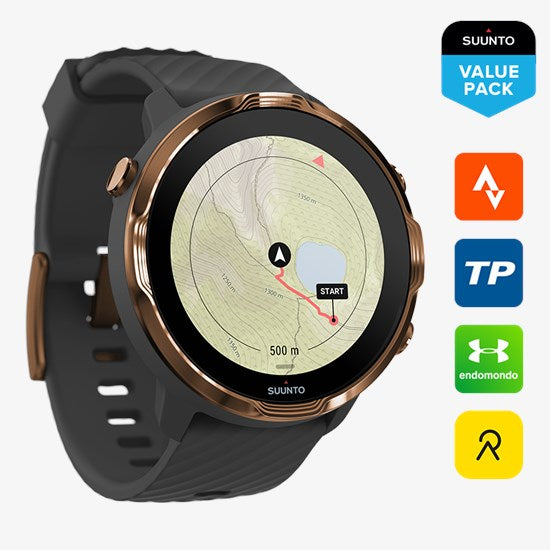 Suunto 7 Graphite Copper - Versatile GPS sports watch and smart watch in one