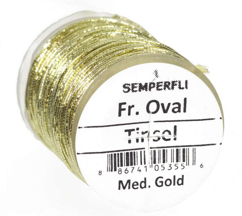 Semperfli French Oval Tinsel Gold