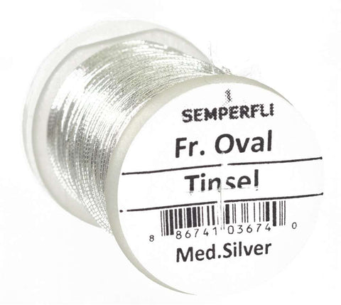 Semperfli French Oval Tinsel Silver