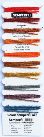 The Fly Tying Den Semperfli Poly-Yarn Multicard Polyyarn
