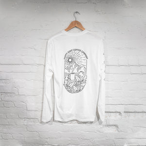 Un-cuffed Long Sleeve Happy Goat Shirt