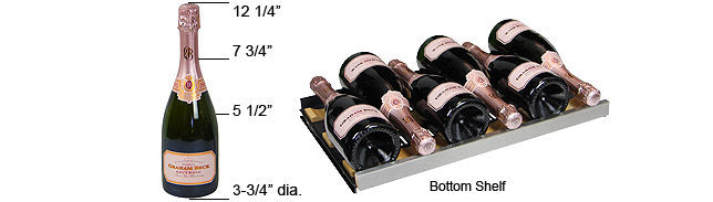 Allavino FlexCount 56 Bottle Dual Zone Stainless Steel Left Hinge Wine Fridge VSWR56-2SSLN