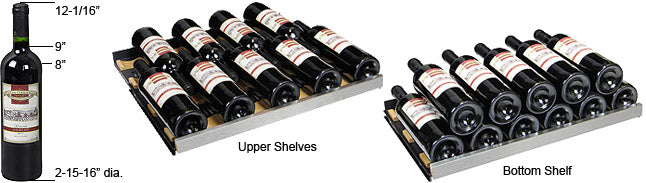 Allavino FlexCount 56 Bottle Single Zone Right Hinge Wine Fridge VSWR56-1SSRN