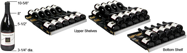 Allavino FlexCount 177 Bottle Single Zone Right Hinge Wine Fridge VSWR177-1SSRN