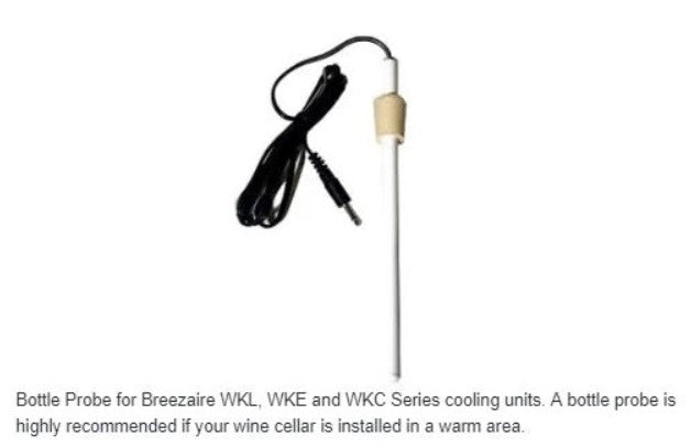 Breezaire Wine Cellar Cooling Units Bottle Probe