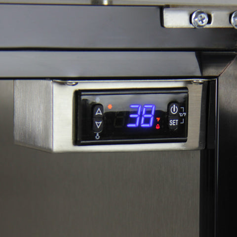 "Kegco 24"" Wide Single Tap Stainless Steel Built-In Digital Left Hinge with Kit Kegerator HK38BSU-L-1"