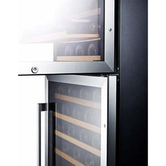 Summit Dual Zone Wine Fridge SWC1875BCSS