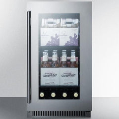 "Summit Classic 18"" 2.9 cu.ft. Stainless Steel Built-In Undercounter Beverage Center CL181WBV"