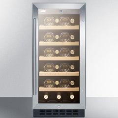 "Summit 15"" 23 Bottle Single Zone Built-In ADA Wine Cooler ALWC15"