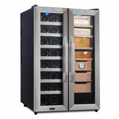 Whynter Freestanding Wine Cooler and Cigar Humidor Center CWC-351DD