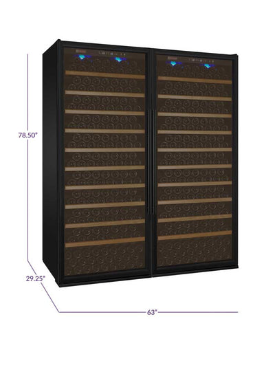 Allavino Vite II Tru-Vino 554 Bottle Dual Zone Black Wine Fridge 2X-YHWR305-1B20 - Wine Coolers Empire