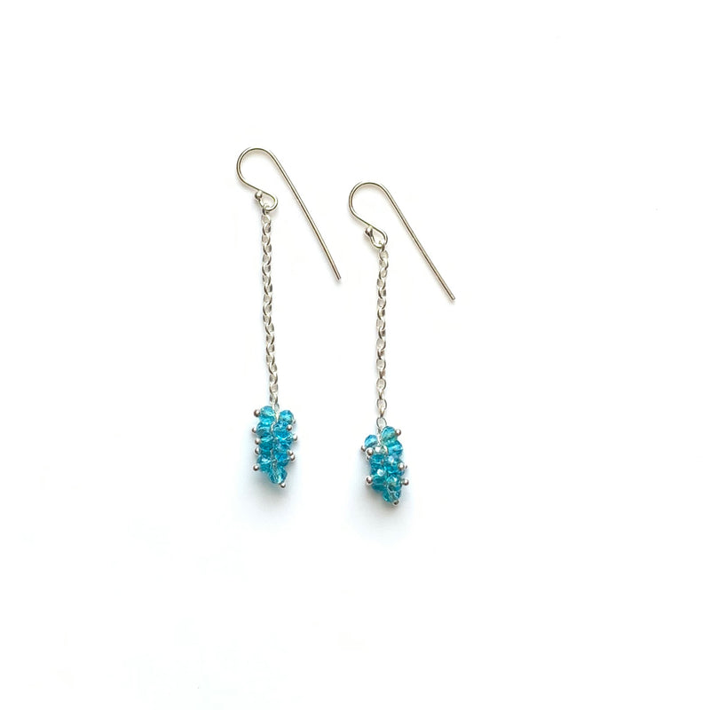 Alexis Plumb Earrings: Aqua