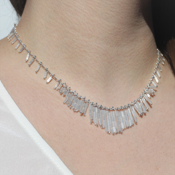 Deco Necklace: Blanco