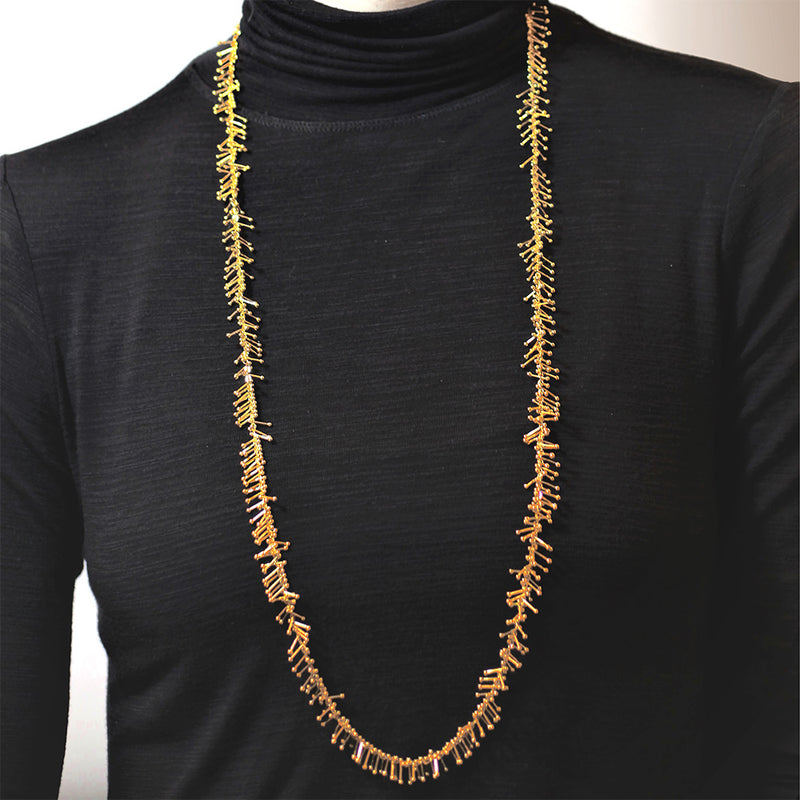 "Feather Chain 36"" Necklace in Gold"