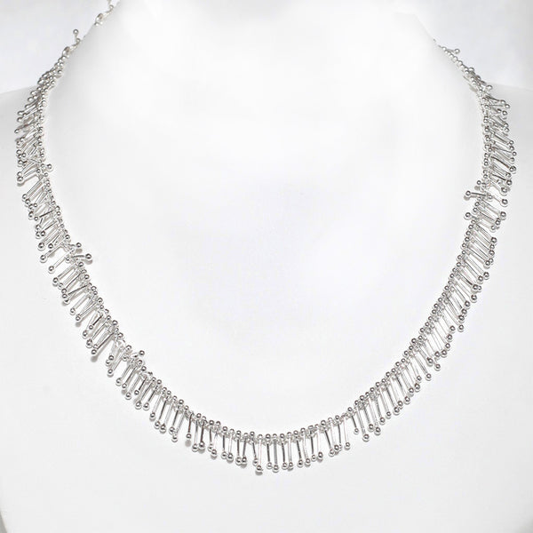 "Feather Chain 18"" Necklace in Silver"