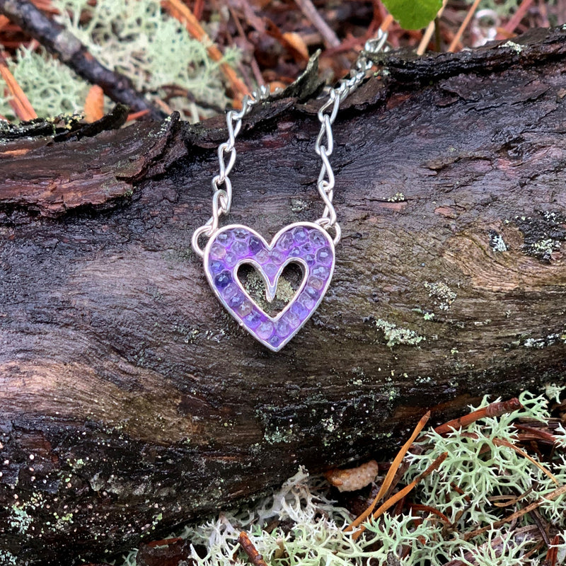 Sophie's Heart Necklace: Iolite