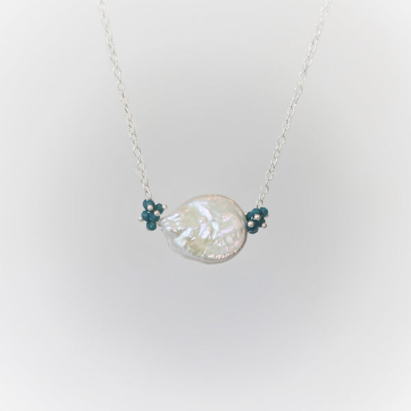 Alexis Pearl Necklace: Teal