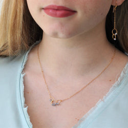 Petite Linked Necklace in Gold