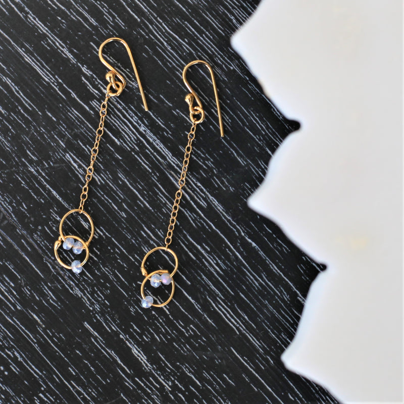 Petite Linked Earrings in Gold
