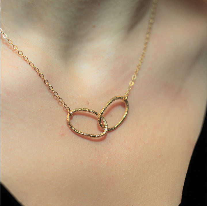 Double Linked Necklace in Gold