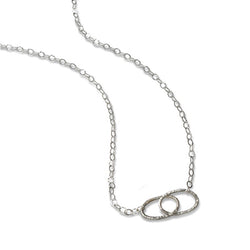 Double Linked Necklace in Silver