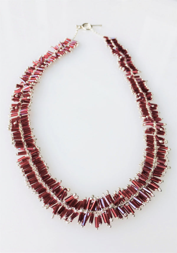 Helix Necklace: Rojo