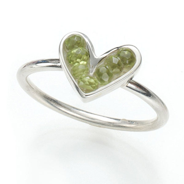 Sophie's Heart Small Ring: Peridot