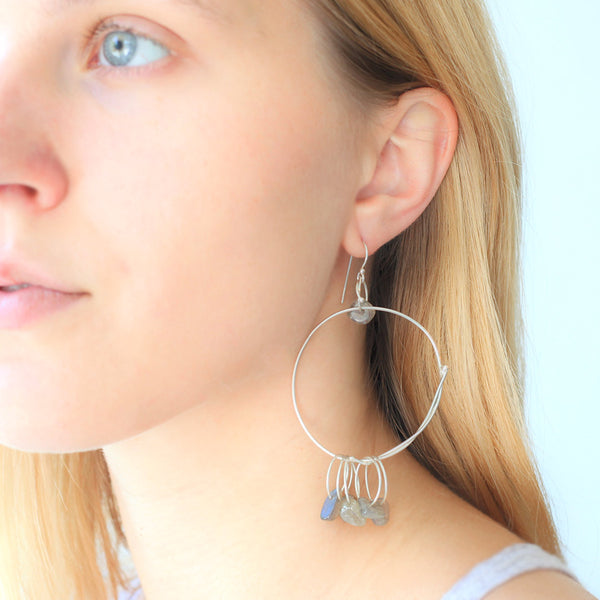 Bohemian Earrings: Grey