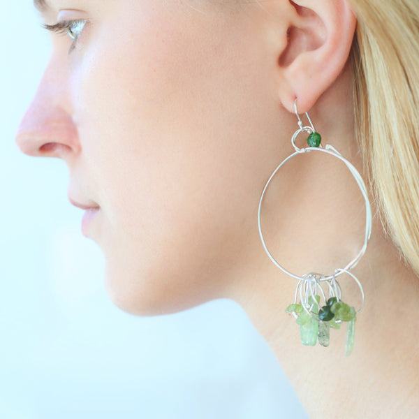 Bohemian Earrings: Green 1