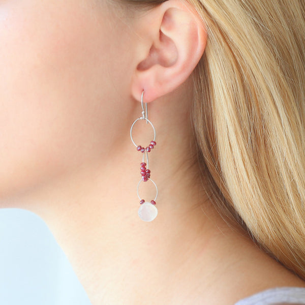OXOXO Earrings: Ruby