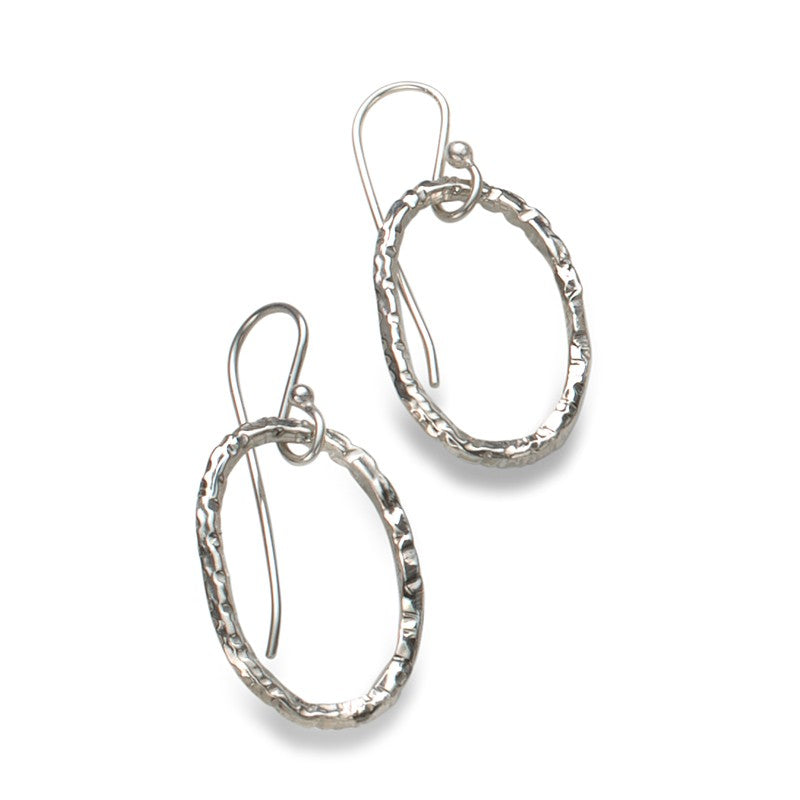 Linked Earrings in Silver