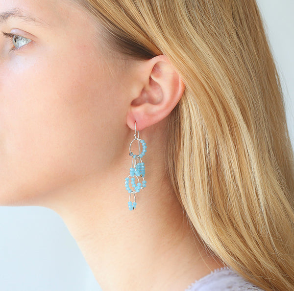 OXOXO Earrings: Blues