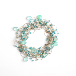 OXOXO Necklace: Chalcedony