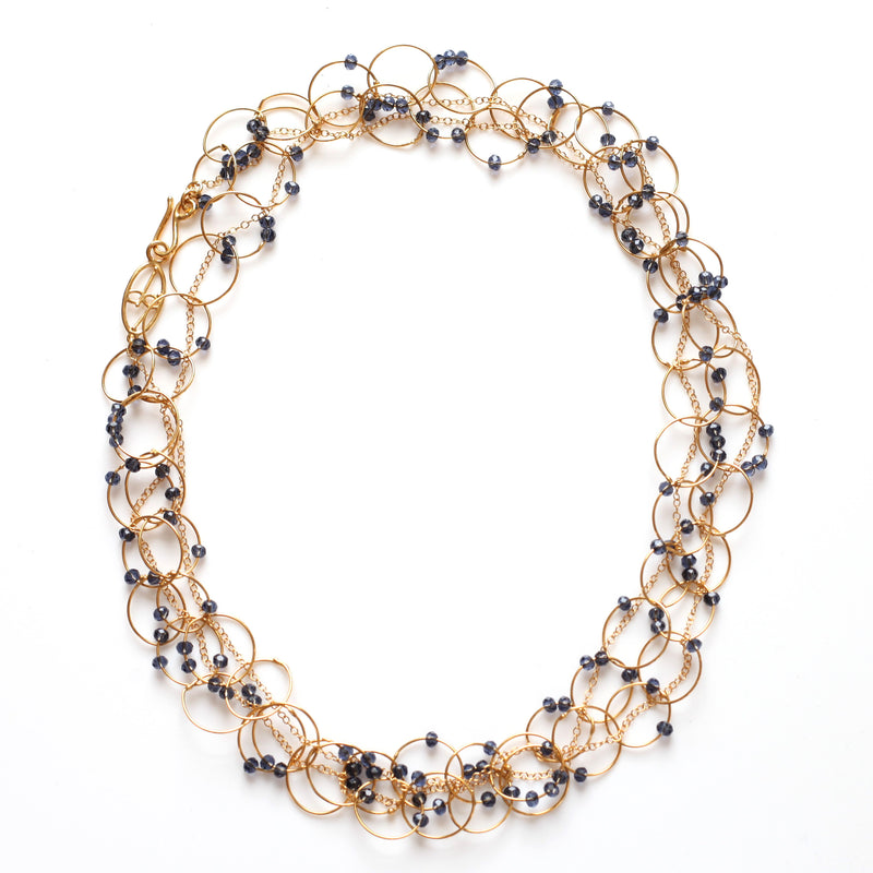 OXOXO Necklace: Iolite