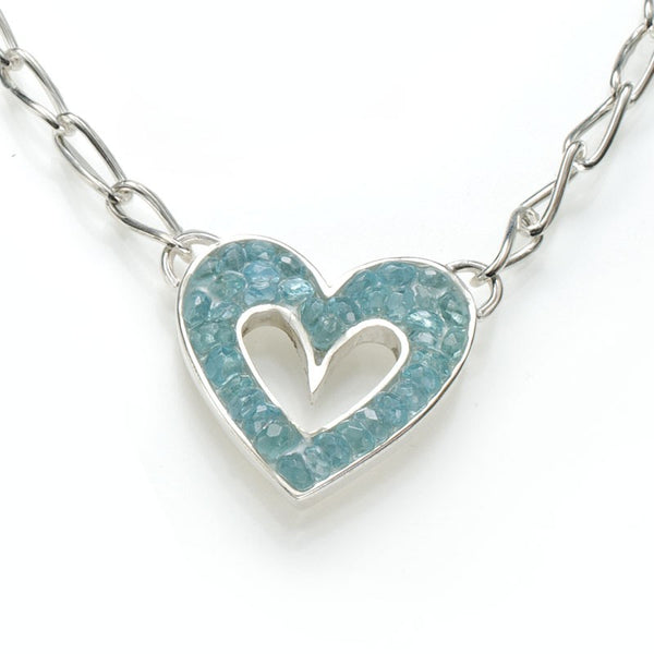 Sophie's Heart Necklace: Apatite