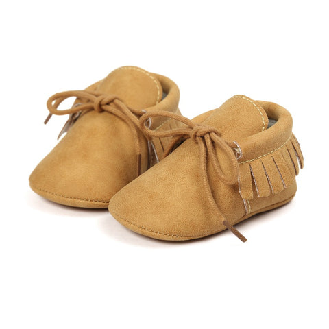 Fringed Moccs - Tan