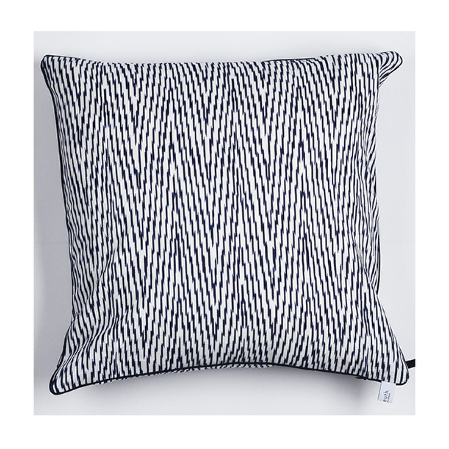 "Kissen ""IKAT HERRINGBONE"" BLUE FANCY 60x60cm   Cotton_Struktur"