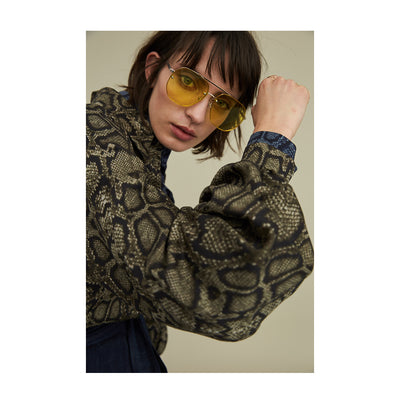 "Blouse ""BETTY"" python print khaki"